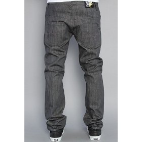 Lrg the supernova slim straight jeans in raw granite grey,denim for men
