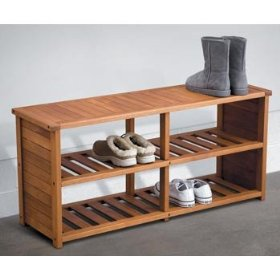 Eucalyptus shoe bench