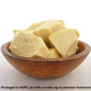 Raw Cocoa Butter 100% Pure 16 oz. (Packaged in Plastic Container)