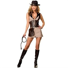 Sexy treasure hunter adult costume