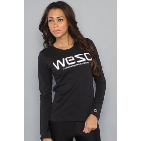 Wesc the wesc top in black,tops (l/s) for women