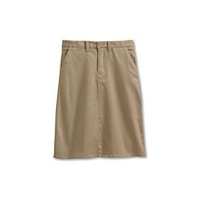 Girls' stretch stain resistant chino skirt