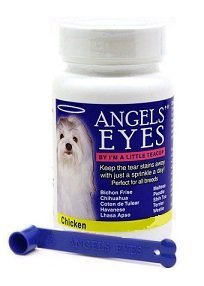 Angels Eyes Tear Stain Remover Eliminator for dogs and cats CHICKEN Flavor + FREE Scoop