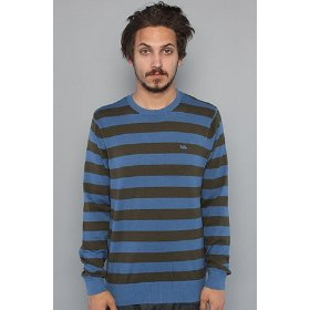Rvca the alfie crewneck sweater in trust fund,sweaters for men