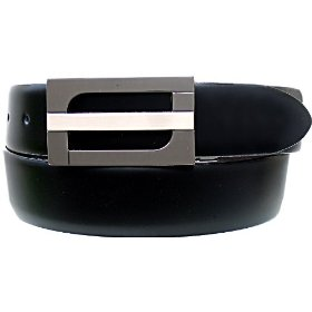 Belt by ardente, made in italy, black/brown reversible, two-tone nickel silver buckle, 35mm. (app.1-