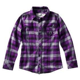 Girls' mossimo supply co. purple plaid long-sleeve woven shirt