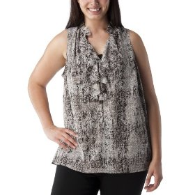 Women's plus-size mossimo® ebony/white sleeveless v-neck fashion top