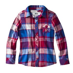 Girls' mossimo supply co. red/blue plaid long-sleeve woven shirt
