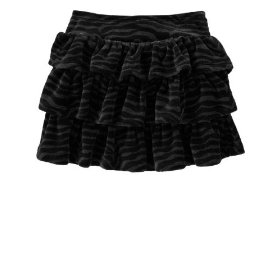 Gap velour animal print skirt