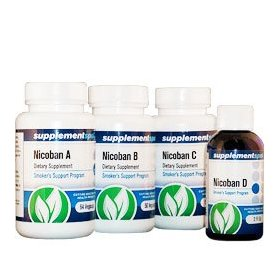 Nicoban herbal stop smoking kit - kick the habit for good in 7 days - guaranteed to work or your mon