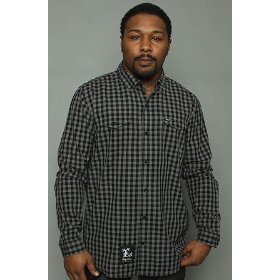 Lrg core collection the cc buttondown shirt in charcoal,buttondown shirts for men