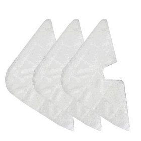 3 replacement triangle pads for shark pocket steam mop