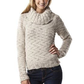 Mossimo supply co. juniors handknit cowl neck pullover sweater - oatmeal