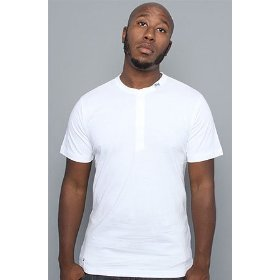 Lrg core collection the cc henley in white,tops for men