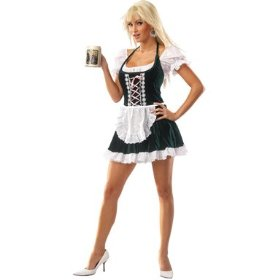 Beer gal adult plus costume