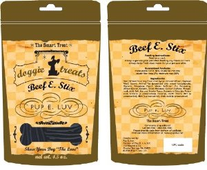 Pup E. Luv 879396000051 12 count case Beef E. Stix dog treat