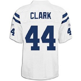 Dallas clark colts white nfl replica jersey - men's