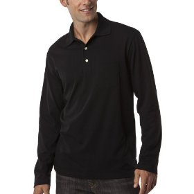 Merona® long-sleeve polo - ebony