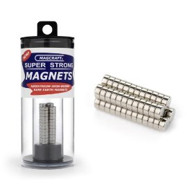 Magcraft nsn0601 1/4-inch by 1/10-inch rare earth disc magnets, 50-count