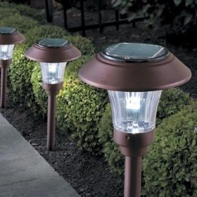 Color-changing solar path lights