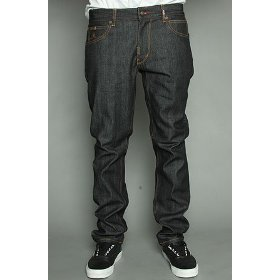 Lrg core collection the cc slim straight fit jean in raw dark indigo,denim for men