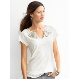 Banana republic nicole bouquet tee