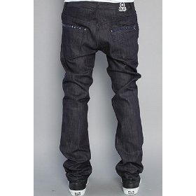 Lrg the top pursuit slim straight jeans in raw indigo,denim for men