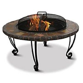 Slate & marble outdoor fire pit