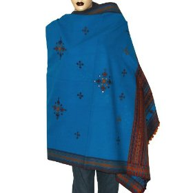Womens gift ideas tribal embroidered wool shawl 80 x 40 inches (ktds539)