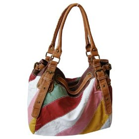 Multi-color trendy striped hobo/handbag - color variations available