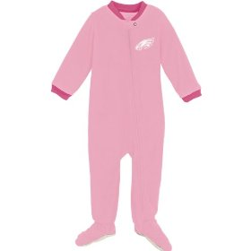 Reebok philadelphia eagles newborn long sleeve pink blanket sleeper