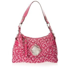 G by guess sweetheart top zip bag