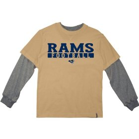 Reebok st. louis rams boys (4-7) long sleeve splitter alternate t-shirt