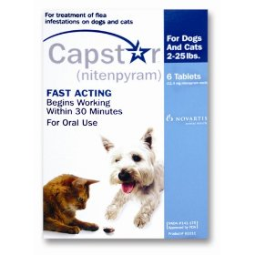 Novartis capstar flea treatment blue tabs for dogs and cats