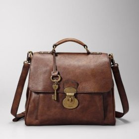 Fossil vintage re-issue lock satchel