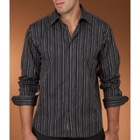 Cubavera cotton yarn dyed stripe shirt