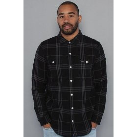 Lrg the fight on buttondown shirt in black,buttondown shirts for men
