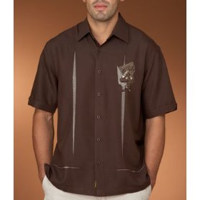Cubavera pool palace embroidered novelty shirt