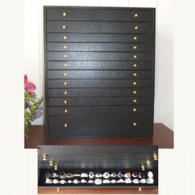 The max 12 drawer jewelry chest (black fx leather) (17