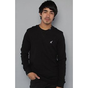 Lrg core collection the grass roots l/s thermal in black,tops for men