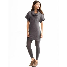 Banana republic funnel neck cable tunic