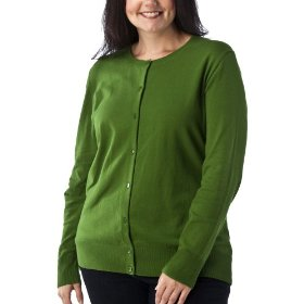 Women's plus-size merona® rosemary green long-sleeve cardigan sweater