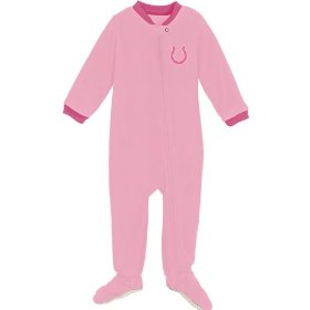 Reebok indianapolist colts newborn long sleeve pink blanket sleeper