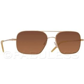 Oliver peoples victory square aviator sunglasses 58 large burn notice