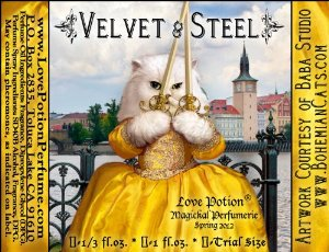 Love Potion�: Velvet and Steel ~ 1/3 Fl. Oz. Concentrated Perfume Oil for Women