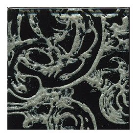 Miila studios victorian glass decos 1 x 6 black pewter ceramic tile & stone