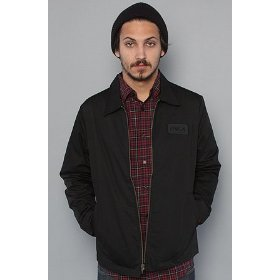Rvca the rvca starter jacket in black,jackets for men