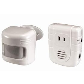 Heath/zenith motion-activated light and alarm system