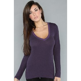 Rvca the onyx ranger top in grape,tops (l/s) for women