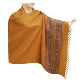 Beautiful handmade plain self design wool shawl pleasant gift for special one shwl0113r